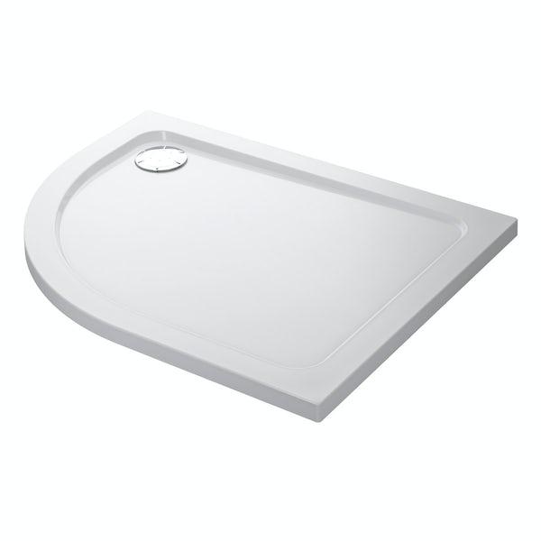 Mira Flight low level right handed quadrant shower tray 1200 x 900