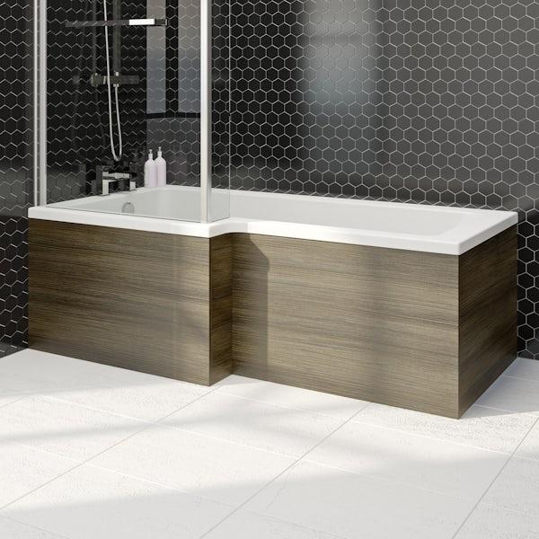 Wye walnut 1700 boston square shower bath front panel