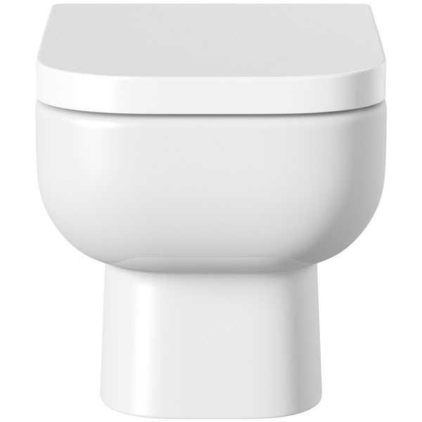 RAK Series 600 wall hung toilet with soft close seat