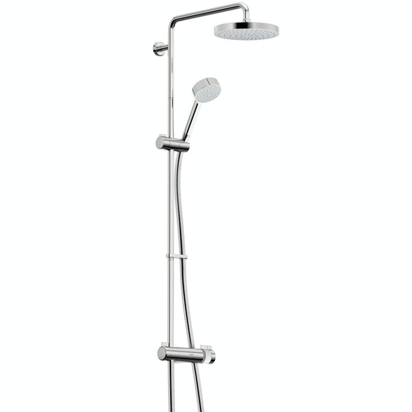 Mira and Mode shower enclosure and tray bundle with Mira Agile mixer shower