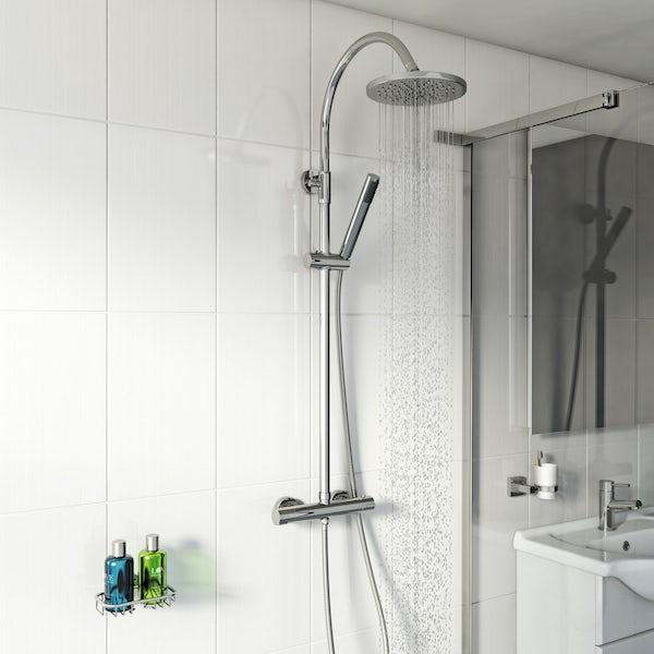 Aria round shower riser system