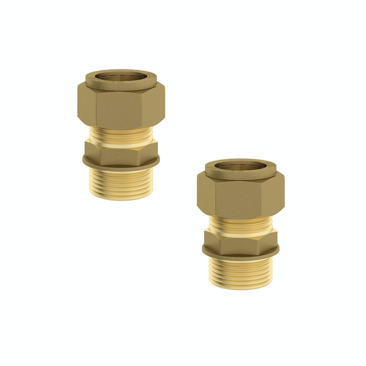 """Straight male connectors 1/2"""" x 15mm (2 pack)"""