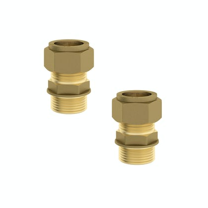 "Straight male connectors 1/2"" x 15mm (2 pack)"