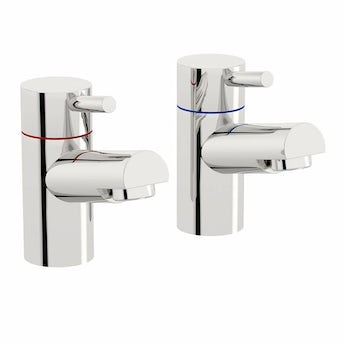 Matrix basin pillar taps