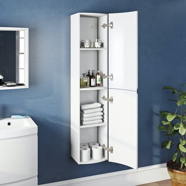 Mode Harrison snow wall hung storage cabinet