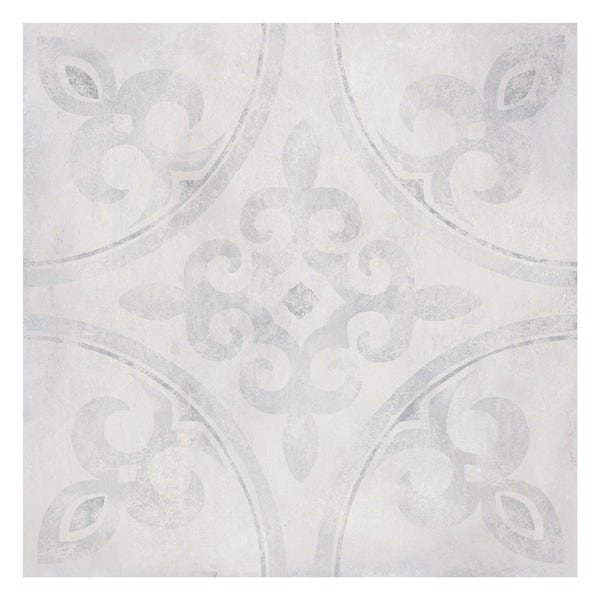 Ted Baker Partridge matt grey wall and floor tile 331mm x 331mm