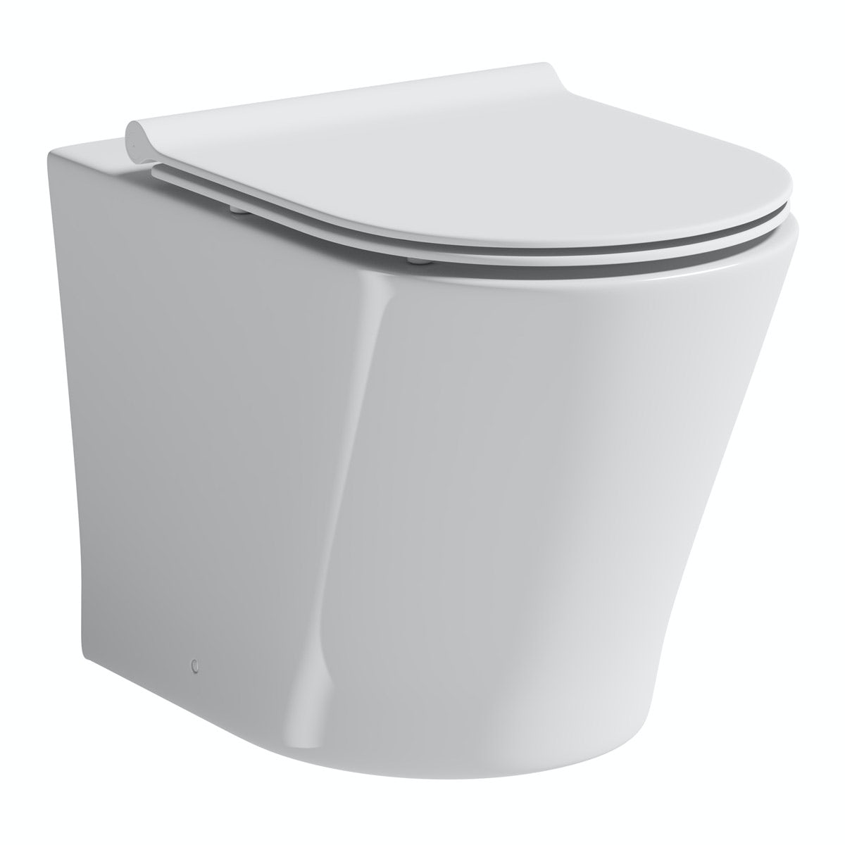 Mode Tate back to wall toilet with slim soft close seat