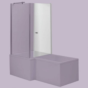 6mm Glass Door For Square Shaped Shower Bath