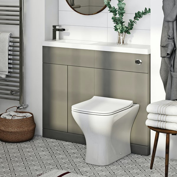 Mode MySpace Slim stone grey combination with Compact square toilet