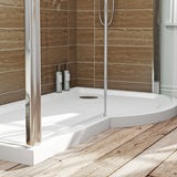 Orchard P shaped right handed shower tray 1500 x 900