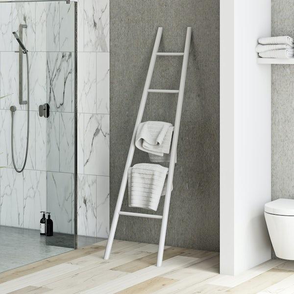 South Bank white towel ladder