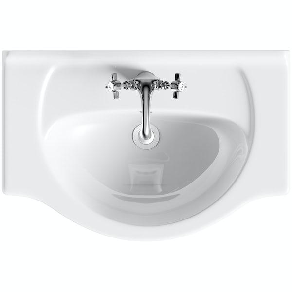 Eden oak vanity unit and basin 650mm