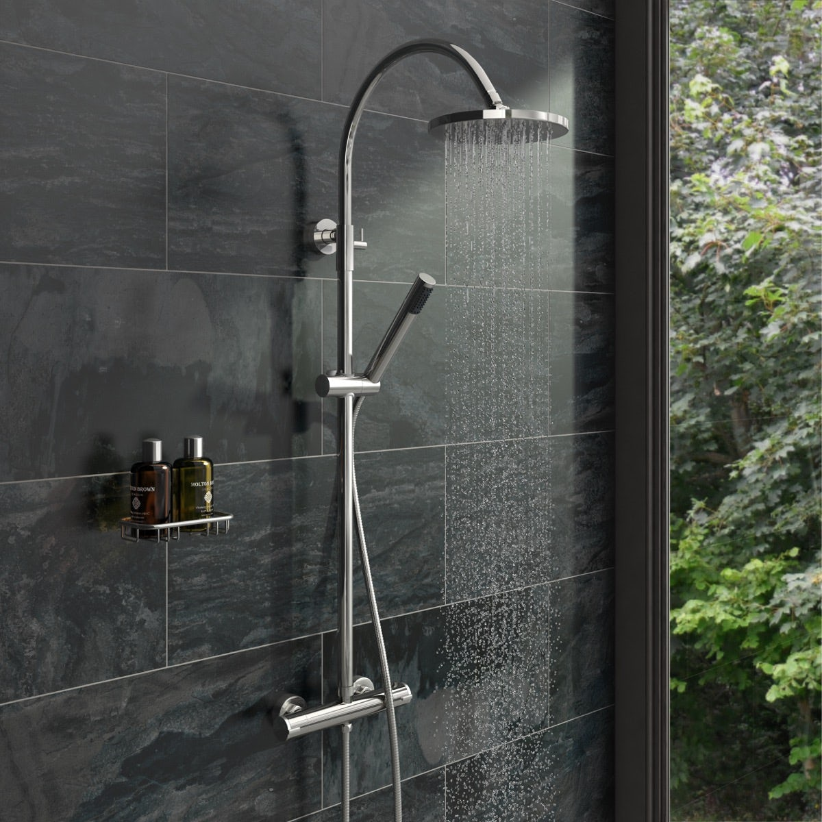 Derwent Round Head Shower Riser System