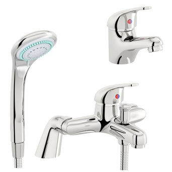 Pulse Basin and Bath Shower Mixer Pack