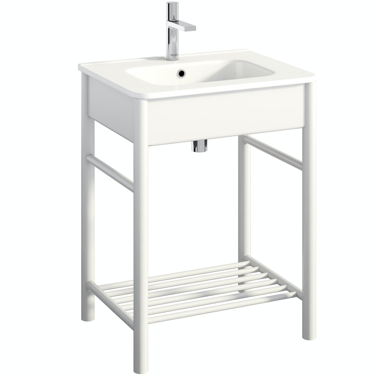 Mode South Bank white washstand with basin 600mm