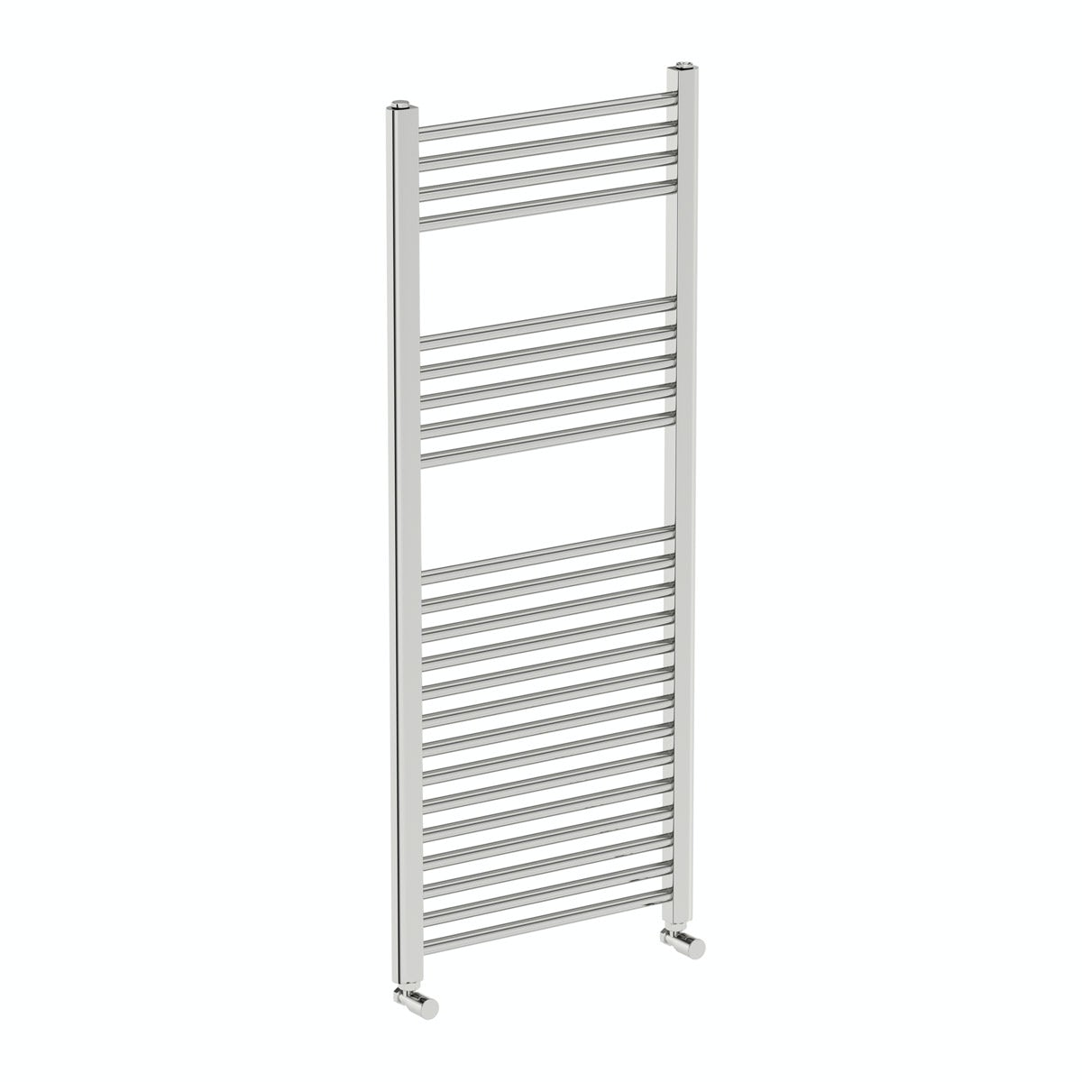 Eden round heated towel rail 1200 x 490