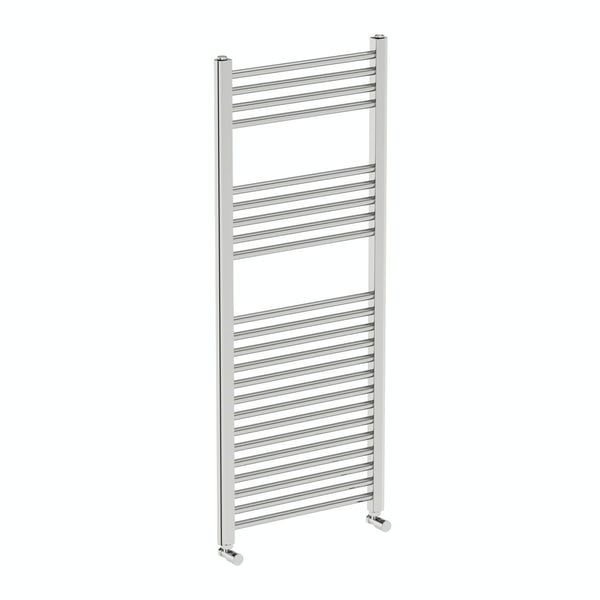 Eden round heated towel rail 1200 x 490 offer pack