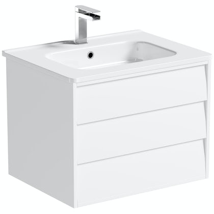 Mode Cooper white wall hung vanity unit and basin 600mm