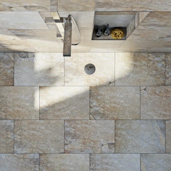 British Ceramic Tile Rocky clay beige matt tile 400mm x 600mm