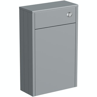 Dulwich grey slimline back to wall toilet unit