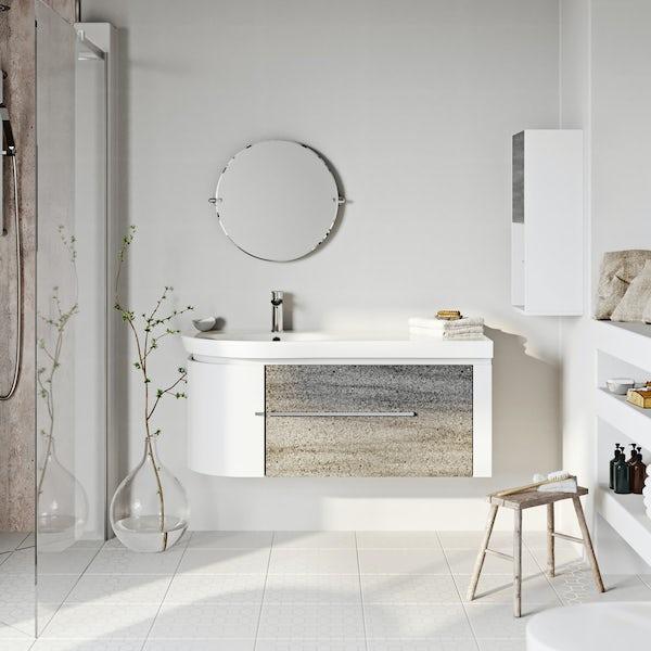 Mode Burton ice stone wall hung vanity unit 1200mm