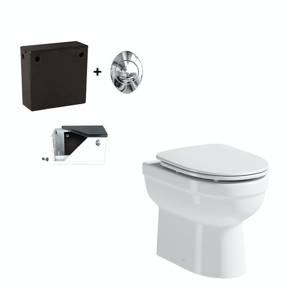 Eden back to wall toilet with luxury soft close seat and concealed cistern