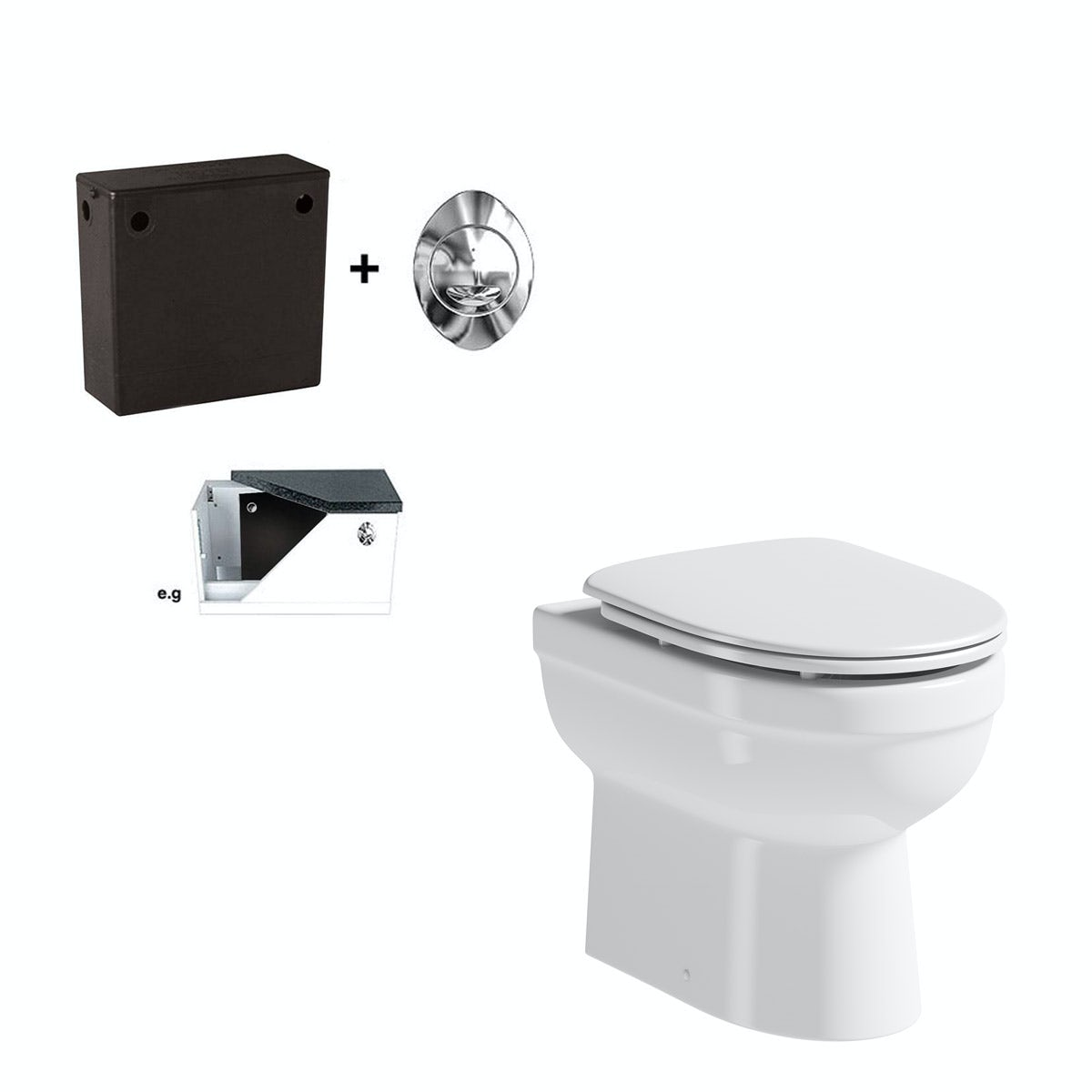 Orchard Eden back to wall toilet with luxury soft close seat and concealed cistern