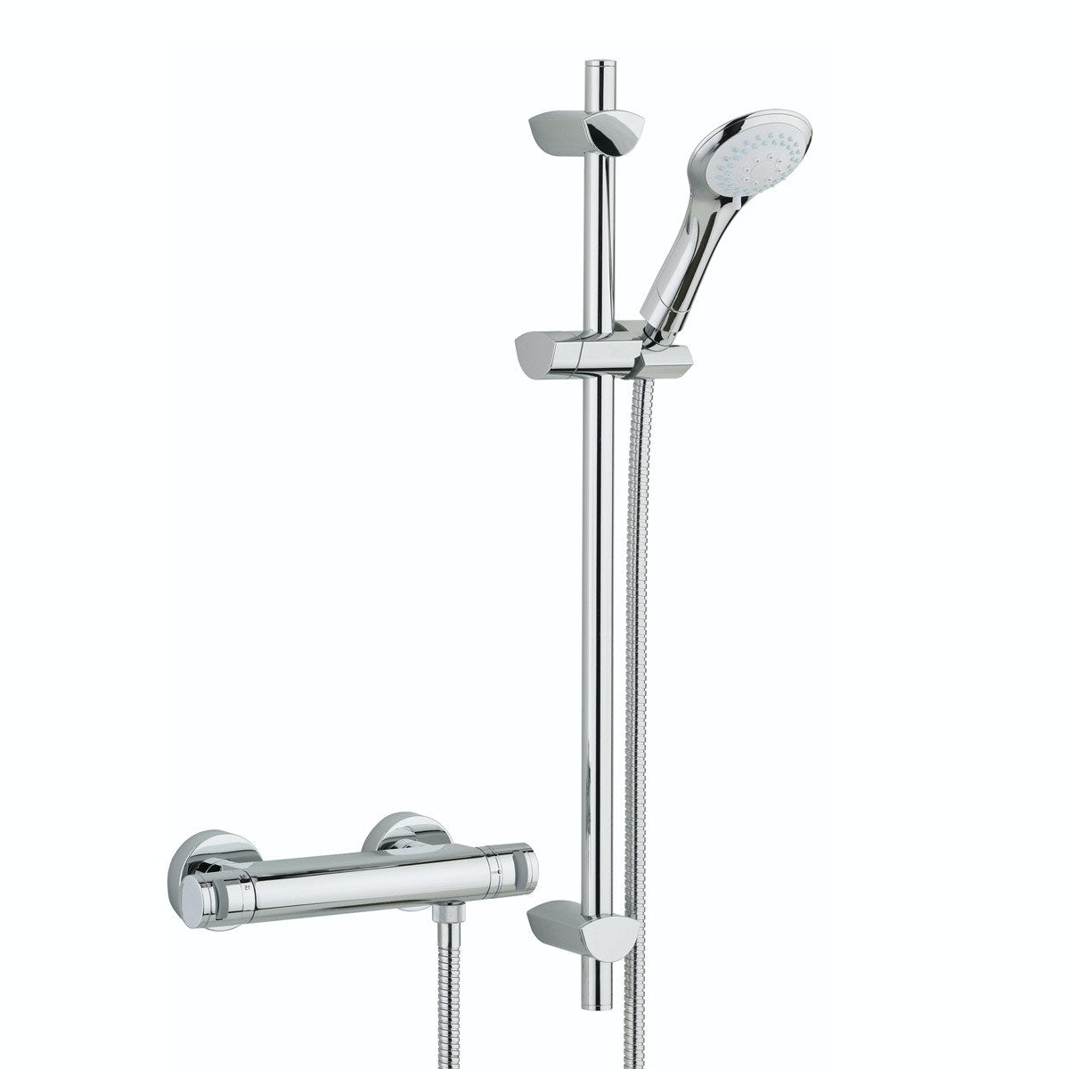 Bristan Artisan thermostatic bar shower valve with slider rail kit