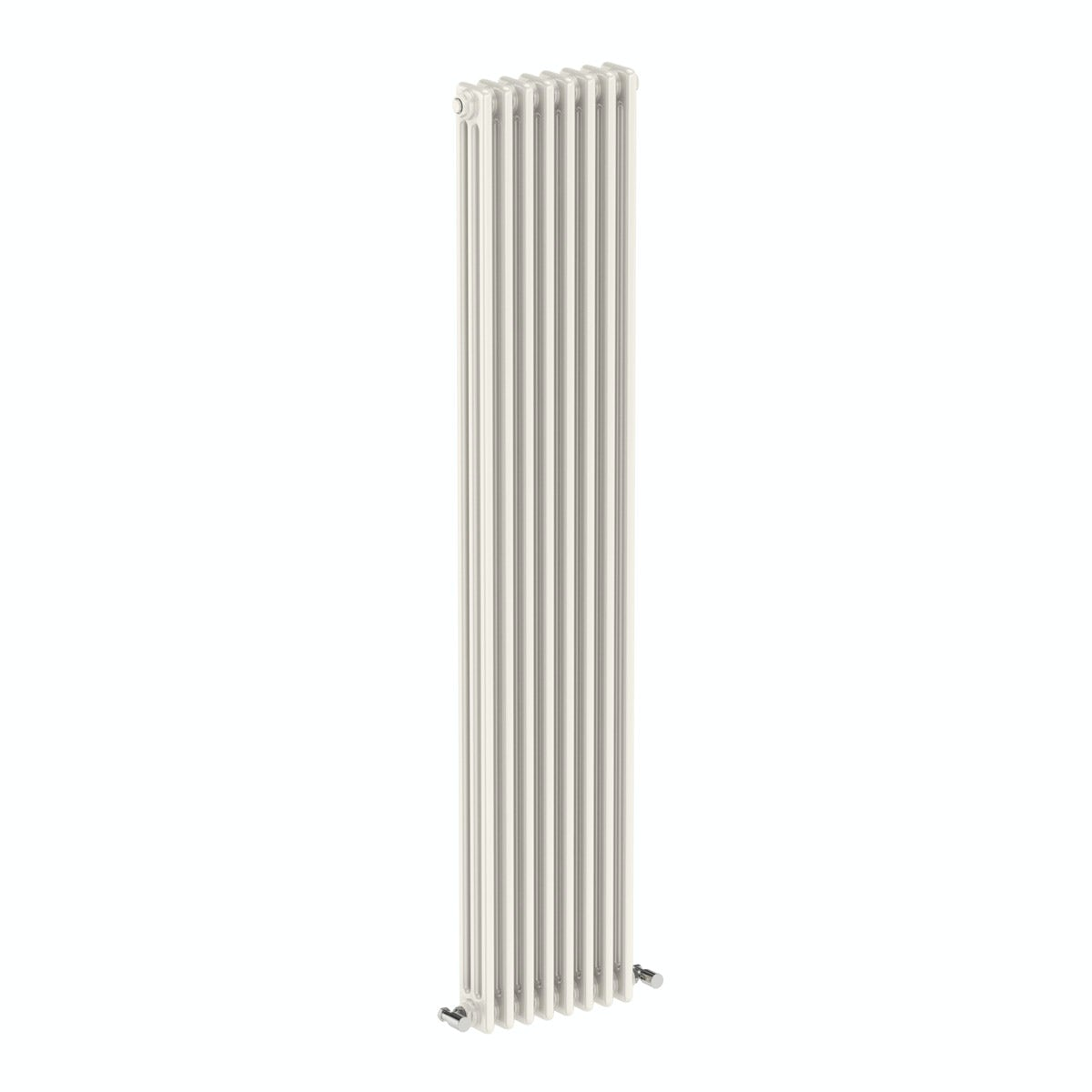 The Bath Co. Dulwich vertical white triple column radiator 1800 x 380 offer pack