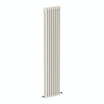 The Bath Co. Dulwich vertical white triple column radiator 1800 x 380 offer pack