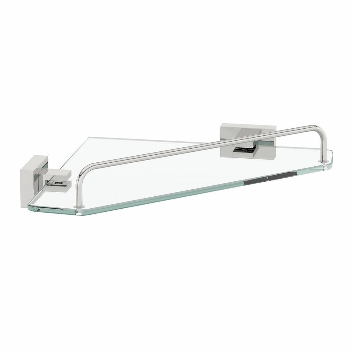 Cubik glass corner shelf