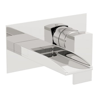 Mode Erskine wall mounted waterfall bath mixer tap offer pack