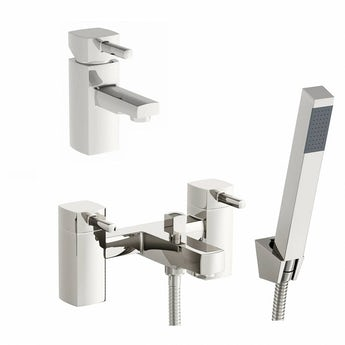 Osca basin and bath shower mixer tap pack