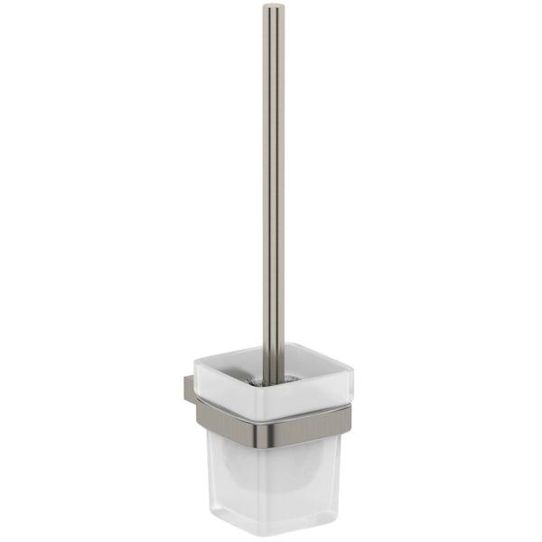 Mode Spencer brushed nickel toilet brush and holder