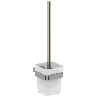 Mode Spencer brushed nickel toilet brush and holder