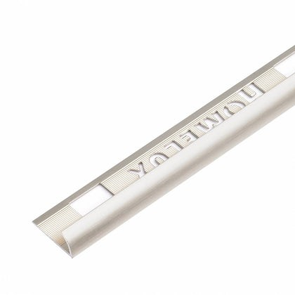 Aluminium Stainless Steel Effect Tile Trim 12.5mm