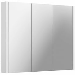 Odessa white 3 door bathroom mirror cabinet offer pack