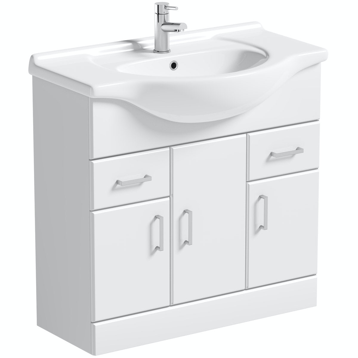 Orchard Eden white vanity unit and basin 850mm