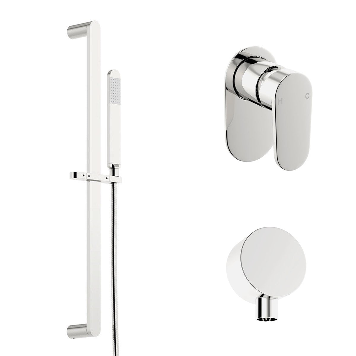 Spa Round Manual Shower Valve with Slider Rail Kit