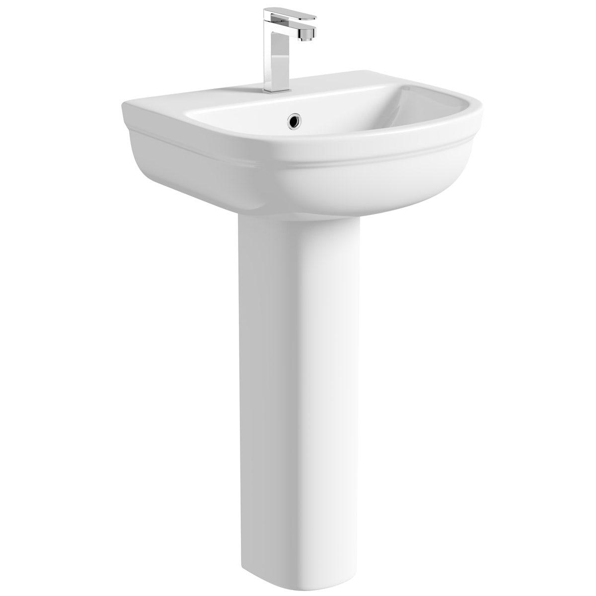 Orchard Elsdon 1 tap hole full pedestal basin 550mm