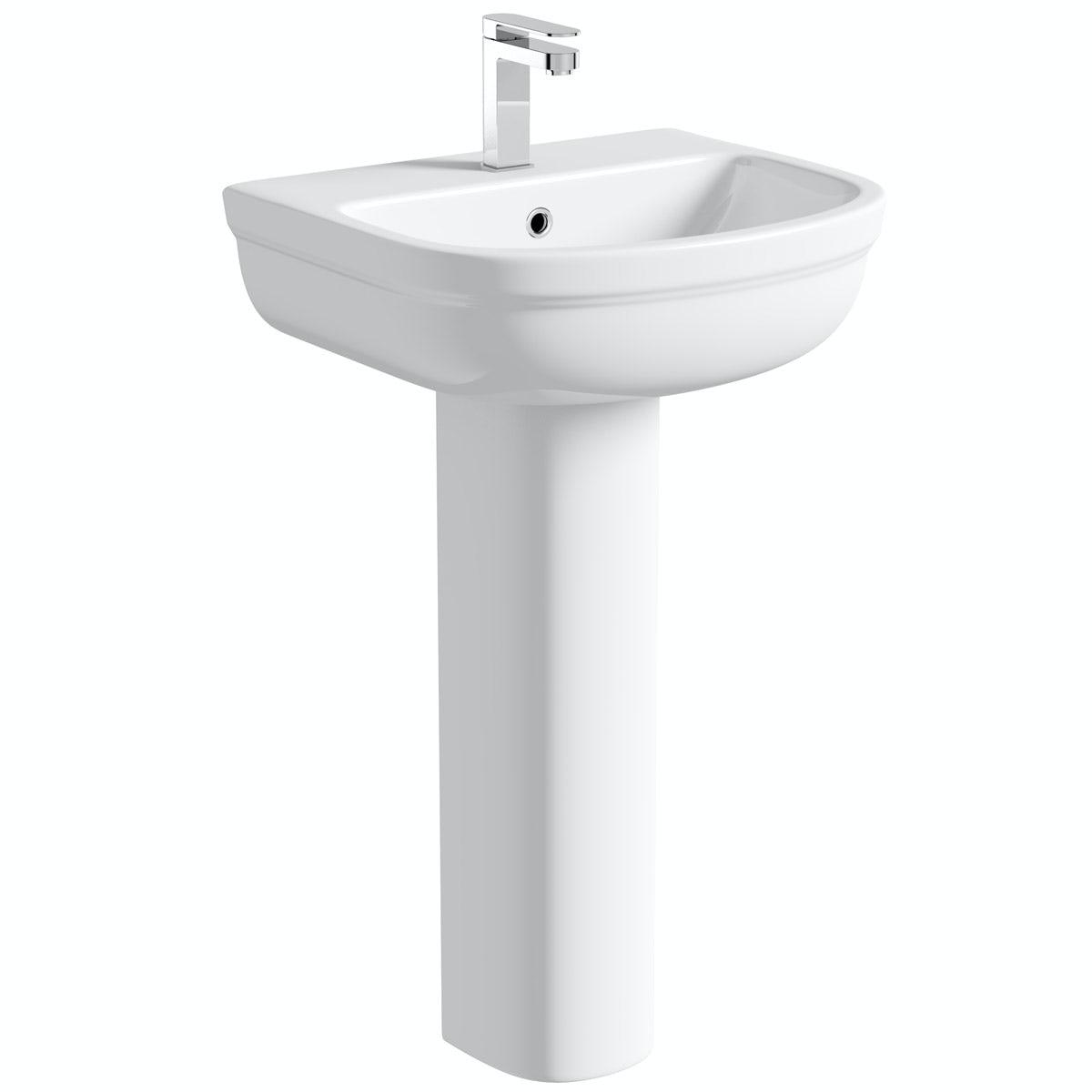 Orchard Deco 1 tap hole full pedestal basin 550mm