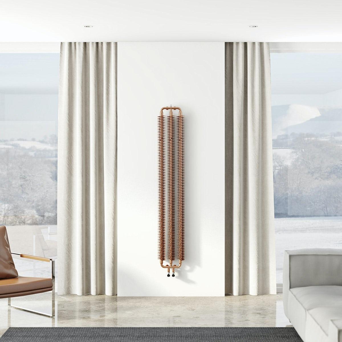Terma Ribbon copper vertical radiator 1720 x 290