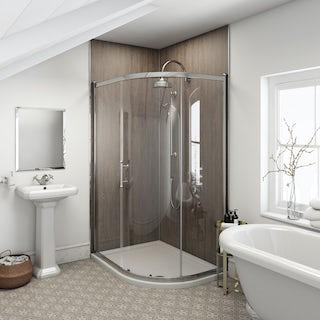 Multipanel Heritage Logan Oak unlipped shower wall panel 2400 x 1200
