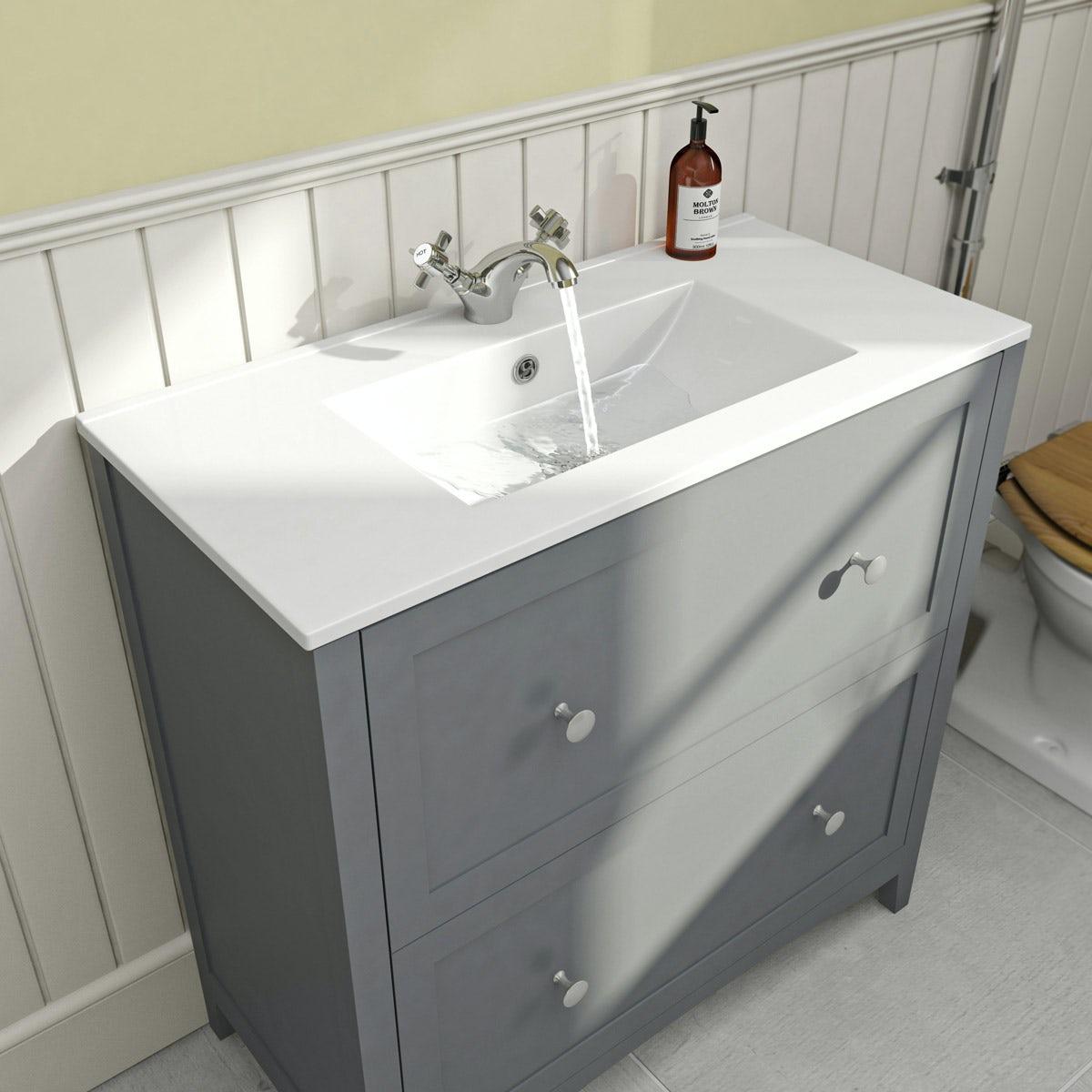 Vanity Unit Bathroom Grey the bath co. camberley grey vanity unit with basin 800mm