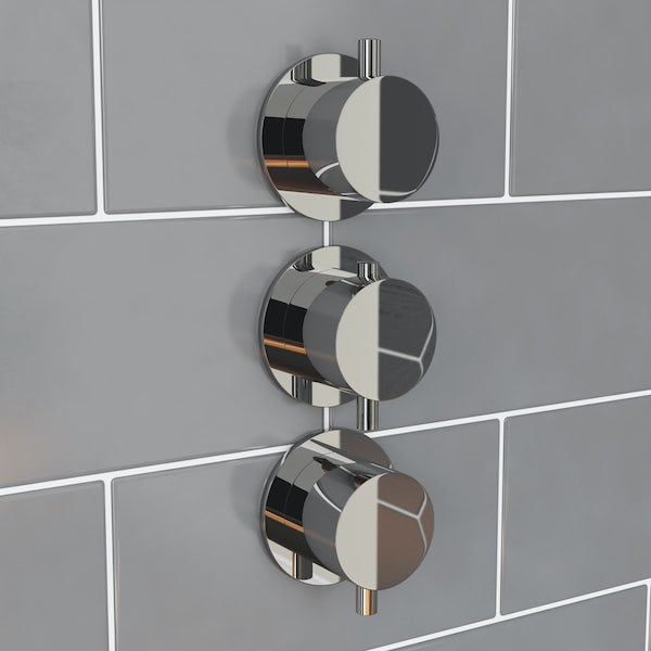 Mode Hardy round triple thermostatic shower valve