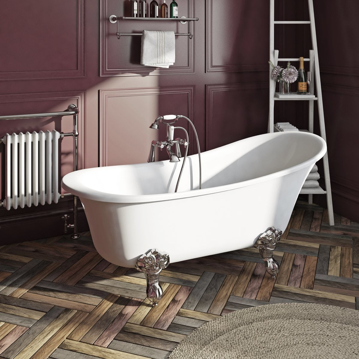 The Bath Co. Elegant Elsie Freestanding Slipper Bath With