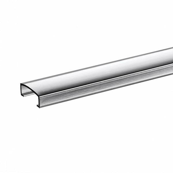 Aluminium Silver Effect Wide Tile Strip