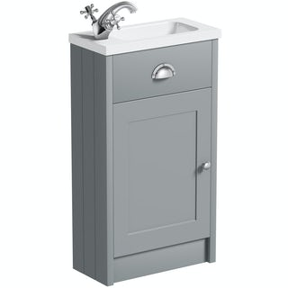 The Bath Co. Dulwich grey cloakroom vanity with basin 450mm
