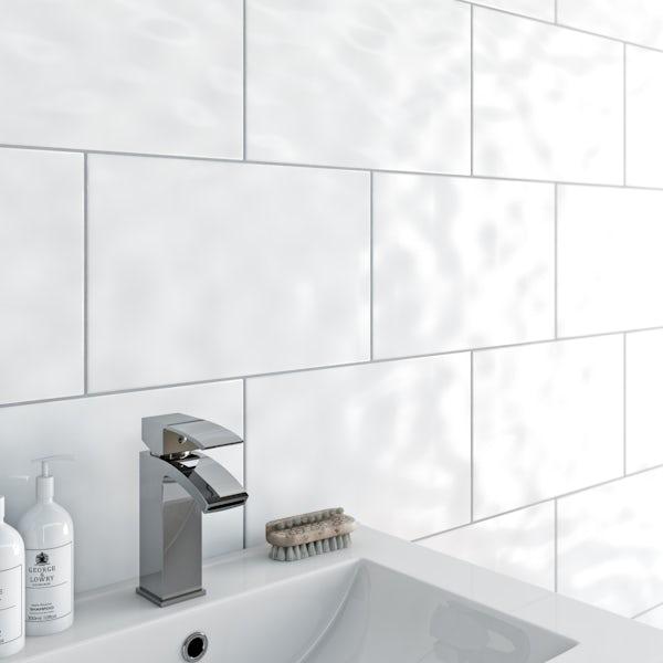 Clarity Bumpy White Gloss Tile 248mm X 398mm