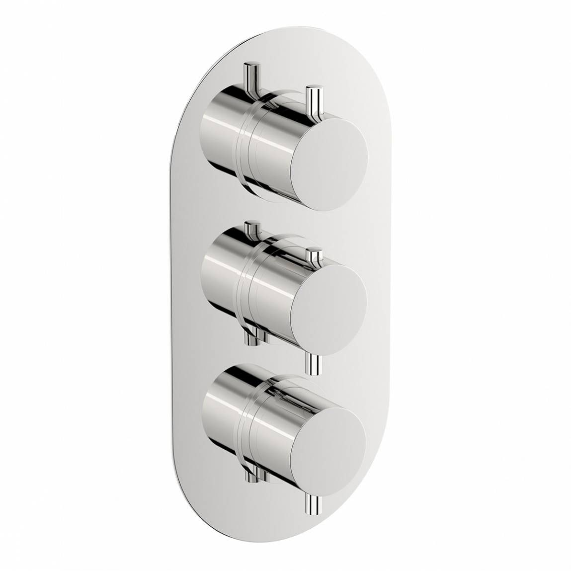 Mode Matrix oval triple thermostatic shower valve